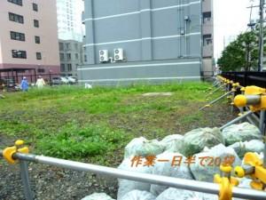 2015.7.7遠友夜学校跡地の草取り_5